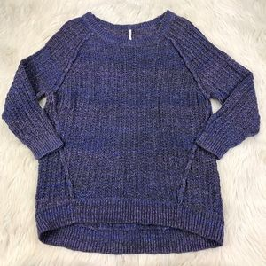 Free People Oversized Purple Tunic Sweater
